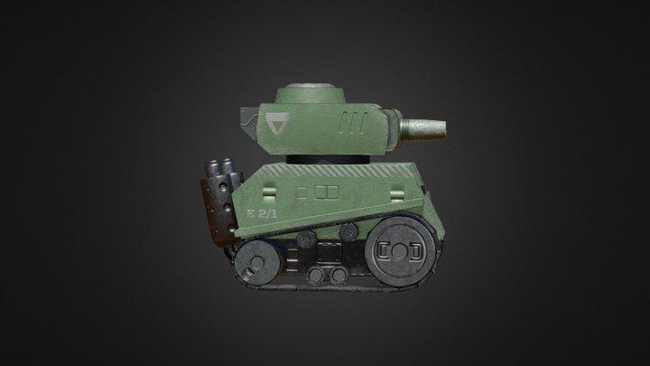 M-8 Mongoose Light Tank 3D Model