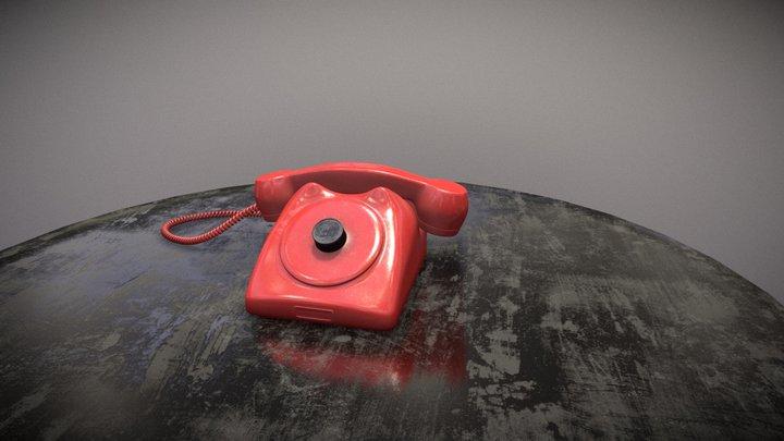 Old bakelite style phone 3D Model