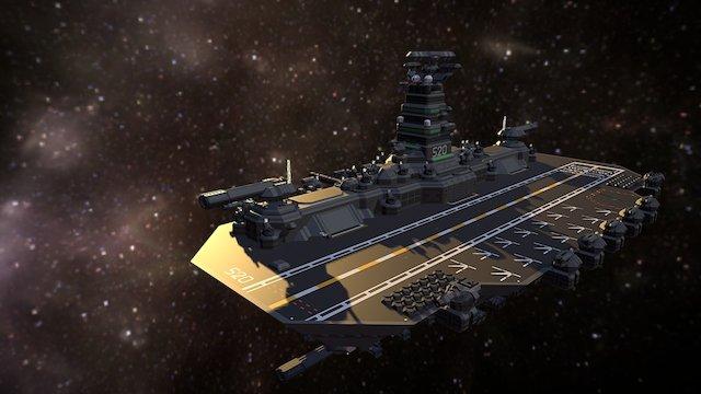 NDS - Avalon Class Light Drone Carrier V1G2 3D Model