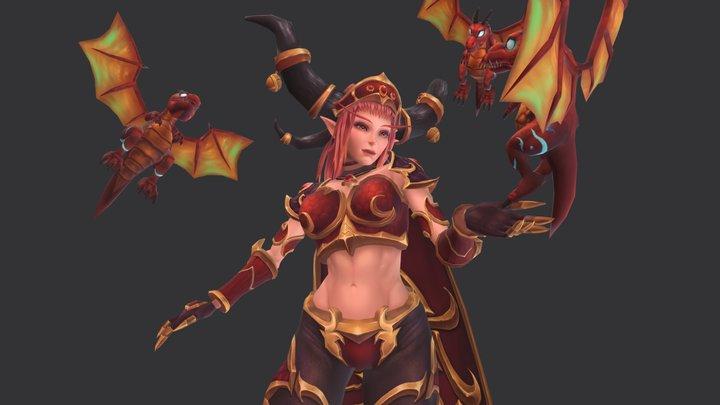 dragon and alexstraza 3D Model