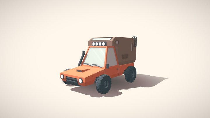 Low-poly truck (Drifter) 3D Model