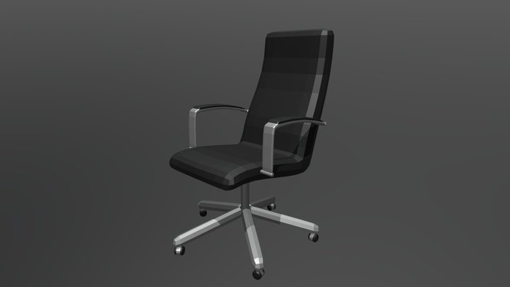 Lowpoly Office Chair 3D Model