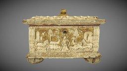 Italian Casket with Mythological Scenes, 1530 3D Model