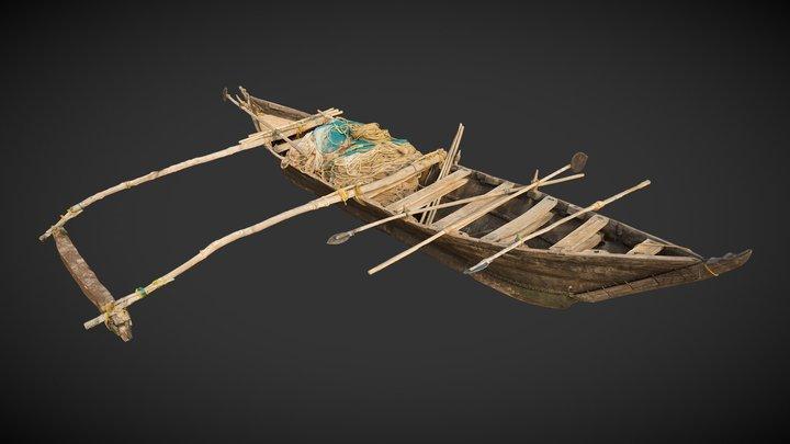 Goa Fishing Boat 3D Model