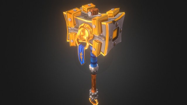 Low Poly Mace Game Ready 3D Model