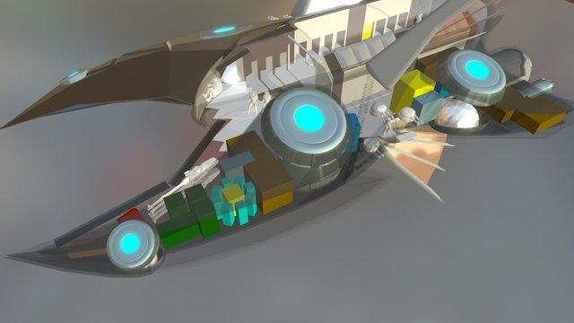 """""""Echelon"""" (interior cutaway) V4 Revision 84 3D Model"""