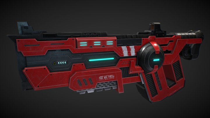 Ultimate Assault Shotgun - Laser Assault Rifle 3D Model