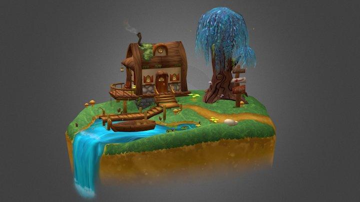 Cabin on the Creek 3D Model