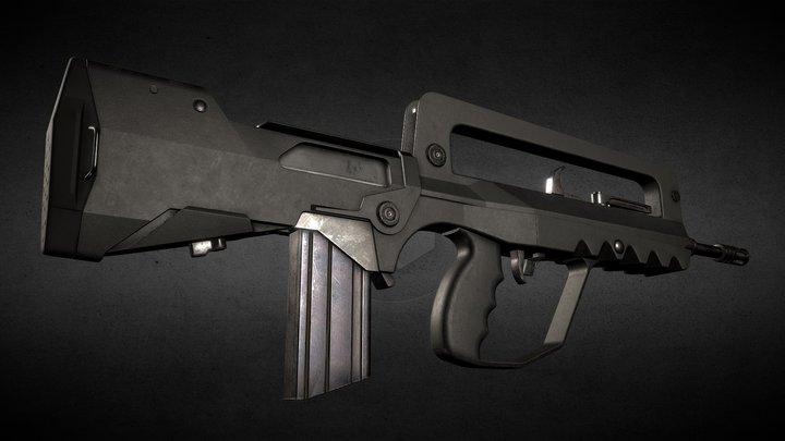 Assault rifle FAMAS G2 3D Model