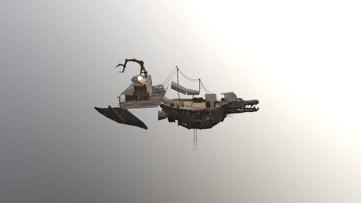 Black Baron BATTLESHIP 3D Model