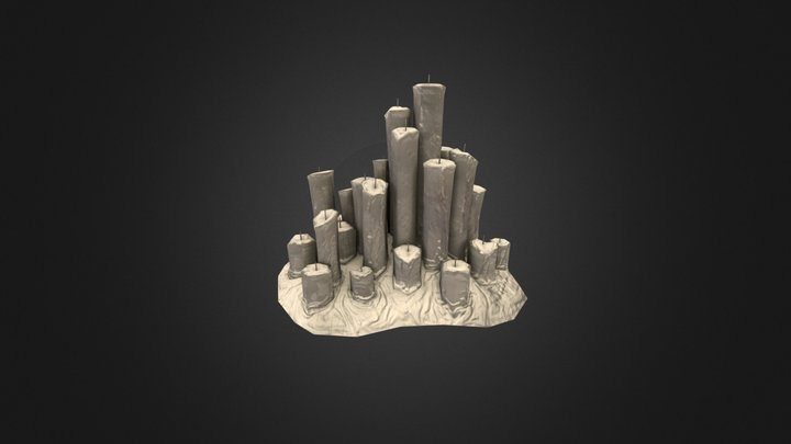 Cathedral Candles 3D Model