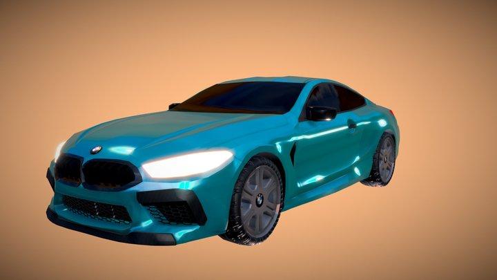 BMW M8 2018 3D Model