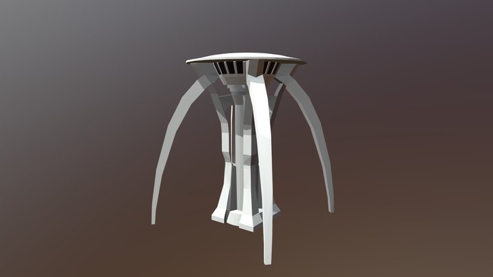 Moon Gravity and Operations Tower 3D Model