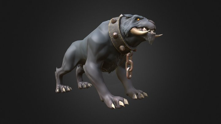 Wolf stylized beast 3D Model