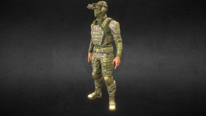 soldier basic 3D Model