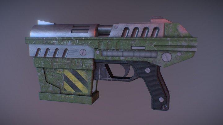 Unreal Tournament - Enforcer pistol remake 3D Model