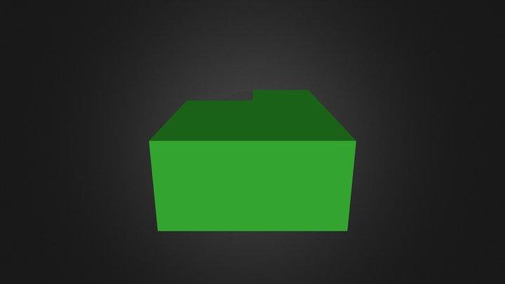 Demo green cubes 3D Model