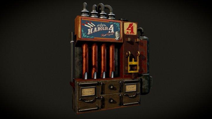 Steampunk Cigarette Dispenser 3D Model