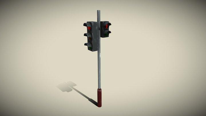 Traffic Light Stylized 3D Model