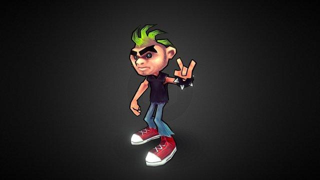 Punk Boy 3D Model