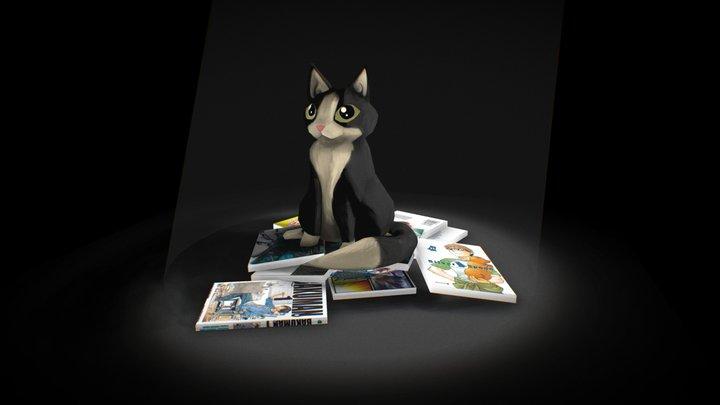 Cat and Waneko 3D Model