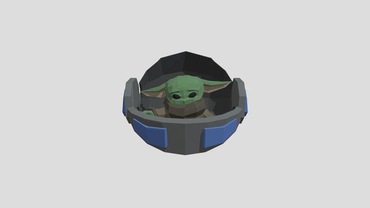 Grogu Push Animation 3D Model