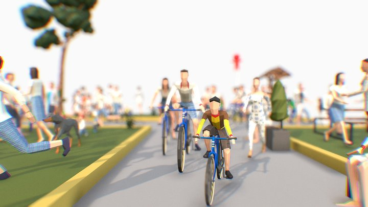 Spring People Pack 3D Model
