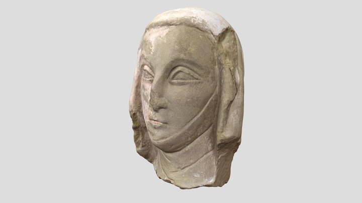 Woman's head from Romainmôtier - 14th c. AD 3D Model