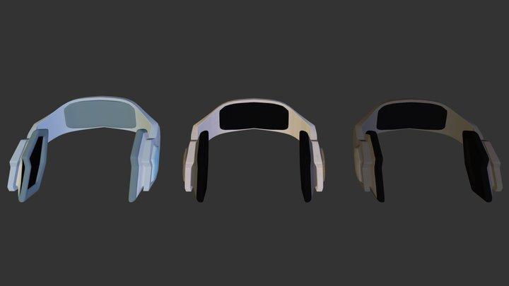 Rebel Series Headphones 3D Model