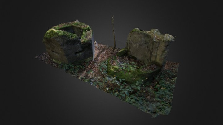 Small Checkpoint Shelter 3D Model