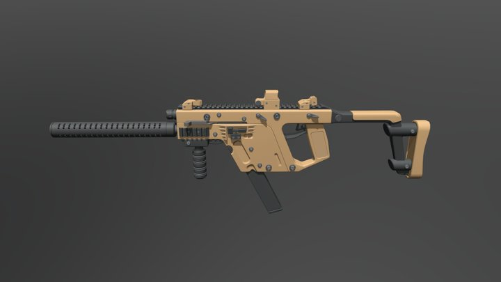 Kriss Vector Draft Colored 3D Model