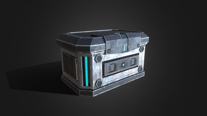 Sci-Fi Container V2 3D Model