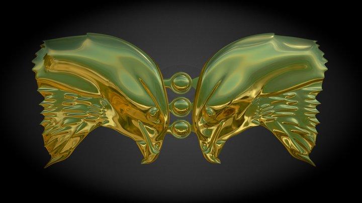Buzzards cloak clasp 3D Model