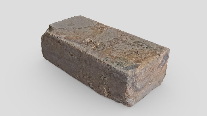 Brick Scan 01   Retopologized 3D Model