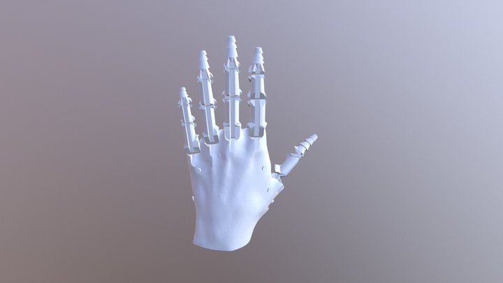 Hard Parts for Silicone Skin Prosthetic Hand 3D Model