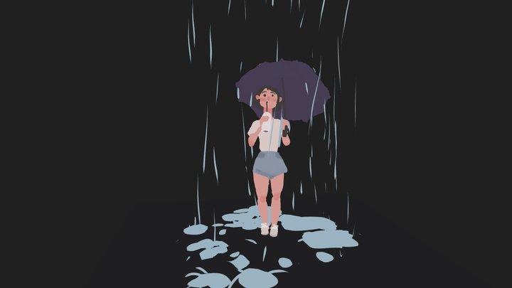 Raining 3D Model