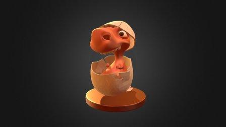 Baby Dinossaur 3D Model