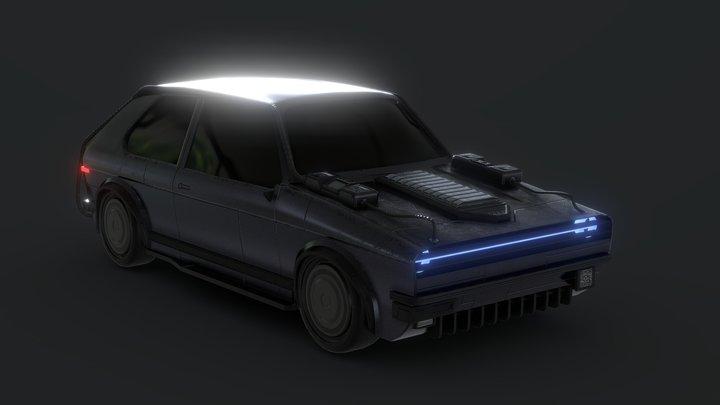 Cyberpunk car - Golfera 77 3D Model