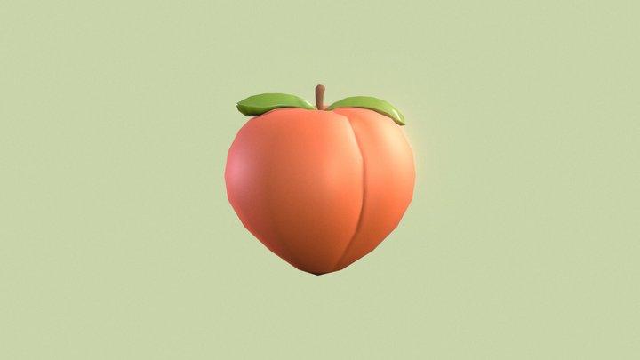 🍑 Peach emoji (Low poly) 3D Model