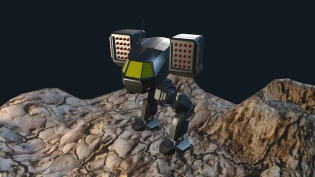 Mech Warrior Fan Art 3D Model
