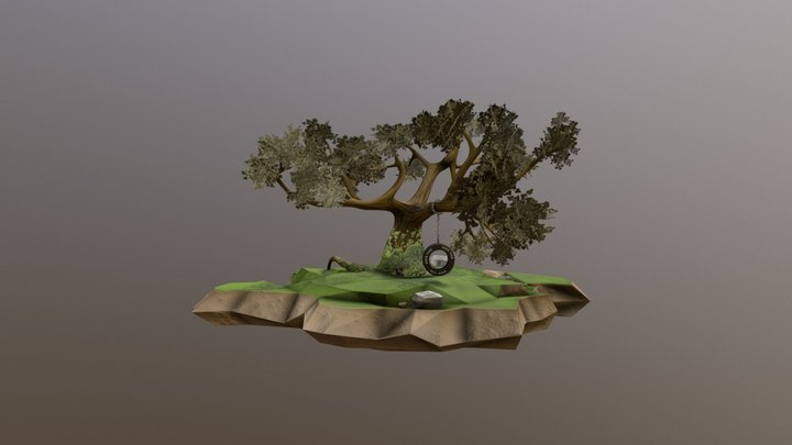 Tree with a Swing 3D Model