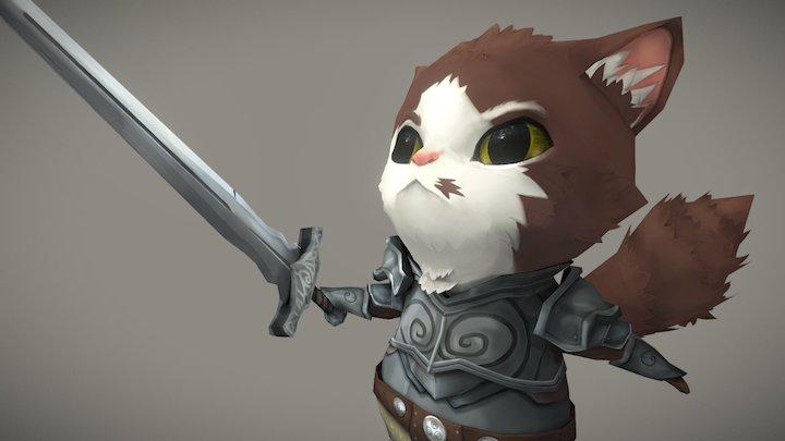 Warrior Cat 3D Model