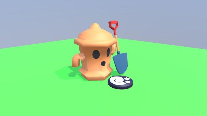 Animal Crossing Gyroid 3D Model