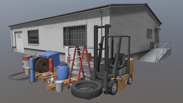 Warehouse Assets 3D Model