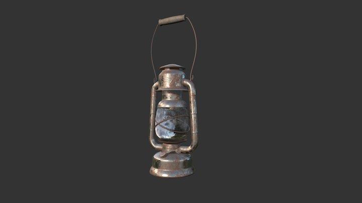 Old Kerosene Lantern 3D Model