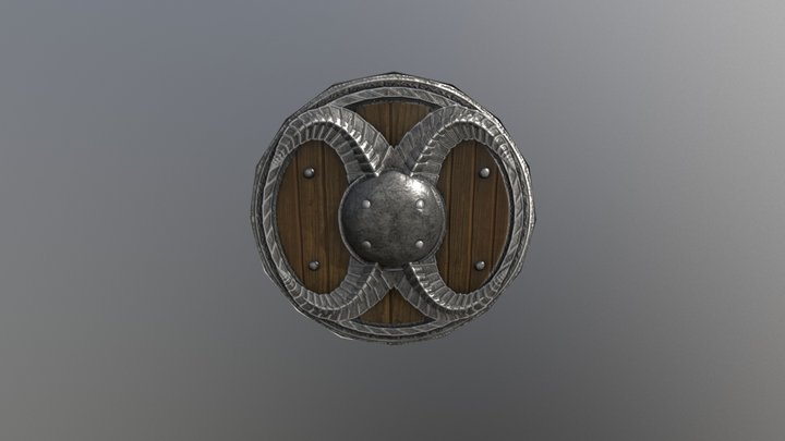 Low Polly Nord style shield 3D Model