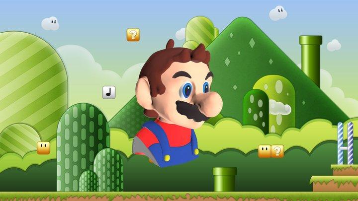 Mario Bros. Bust 3D Model
