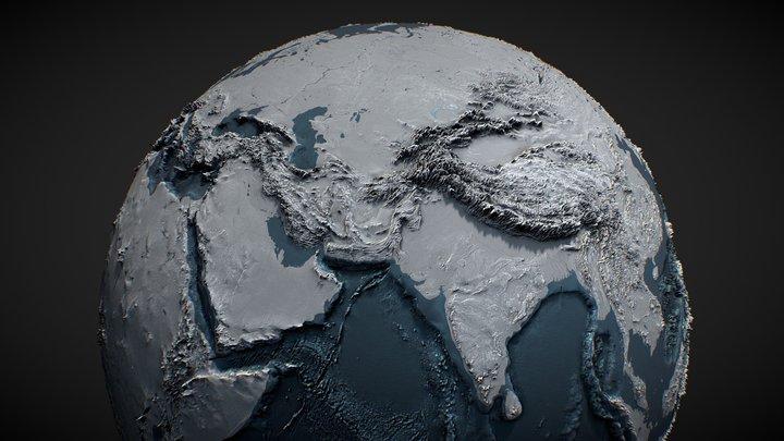 Planet Earth 3D Globe 3D Model