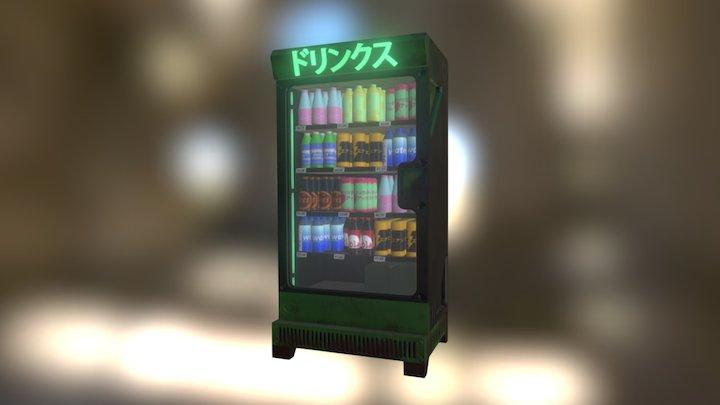Japanese soda refrigerator 3D Model