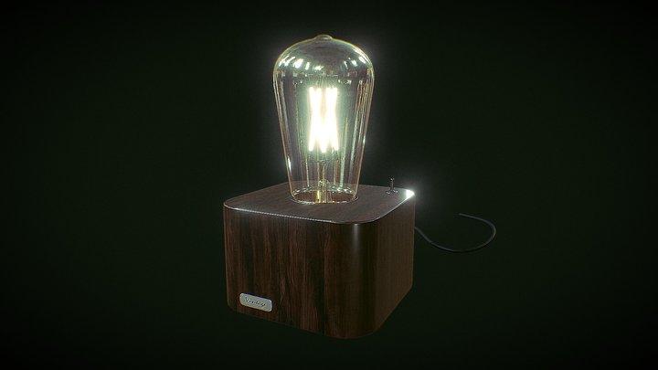 Vintage Bulb Lamp 3D Model